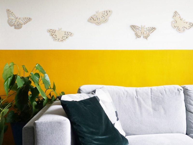 vlinders woonkamer